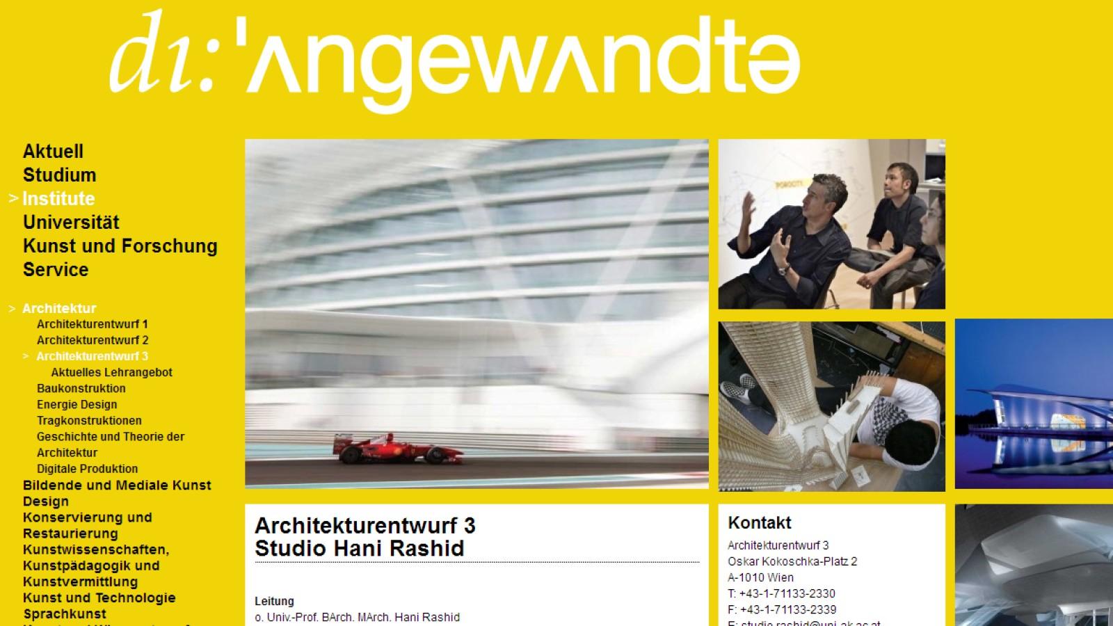 University Of Applied Arts Vienna Project Widrichfilm